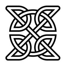Celtic Square Knot Symbol