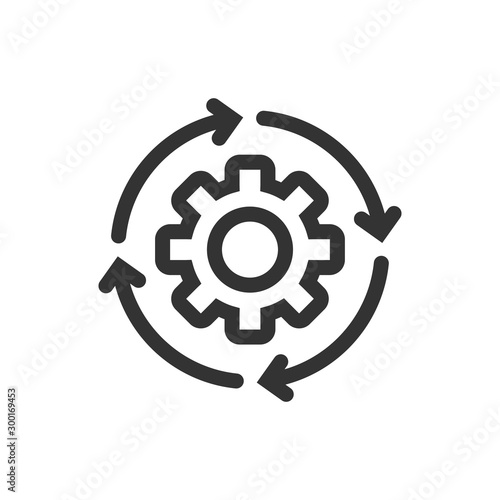 Workflow icon in flat style Canvas Print