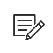 Blogging Icon In Flat Style. D...