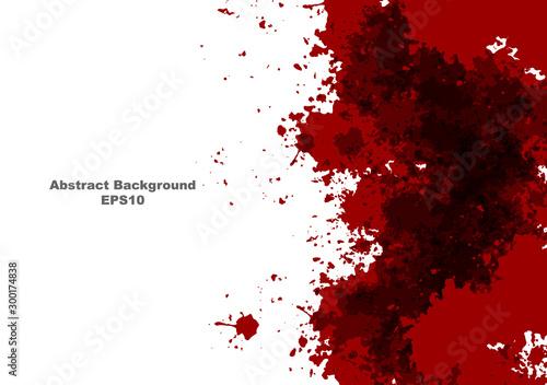 Obraz na plátně abstract vector splatter red color design background