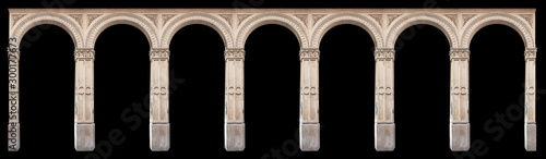 Elements of architectural decorations of buildings, arches, doorways and windows Canvas Print