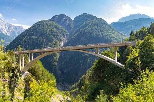 Fototapeta Mountain road to Mangart, Ttriglav national park, Slovenia obraz