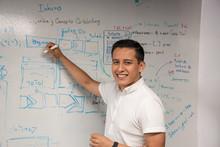 Joven Empresario Latino En Ofi...