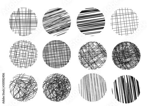 Vászonkép Drawings hatching sketch.