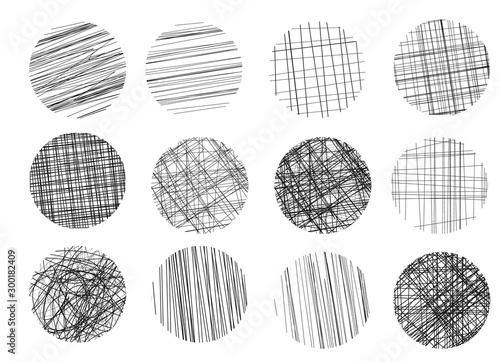 Fényképezés Drawings hatching sketch.