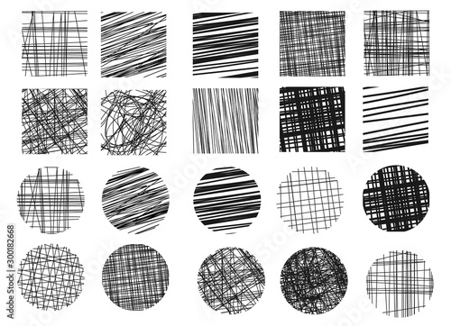 Drawings hatching sketch. Canvas-taulu