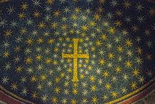 RAVENNA, ITALY - September 11, 2019: Mosaic In The Chapel