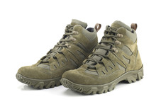 Hiking Boots Isolated On White