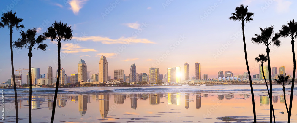 Fototapeta Downtown San Diego skyline in California, USA