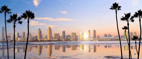 Obraz Downtown San Diego skyline in California, USA - fototapety do salonu