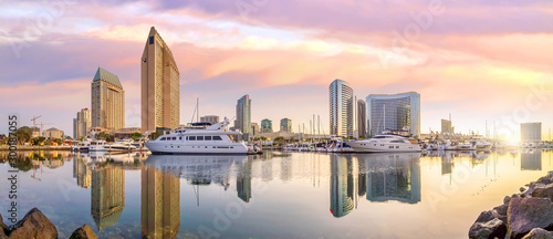 Downtown San Diego skyline in California, USA Canvas Print