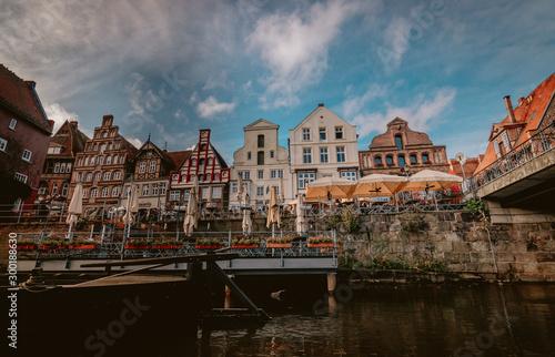Obraz na plátne  Blick auf den Lüneburger Stint