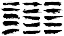 Grunge Brushes. Black Paint St...