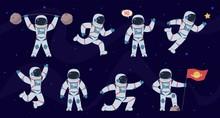 Cartoon Astronaut. Cosmonaut C...