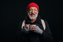 Bearded Beggar Male Smiling, H...