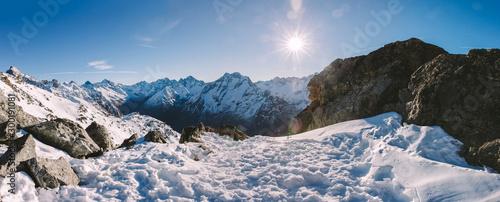 Landscape in Les deux Alpes, French Alps Fototapet