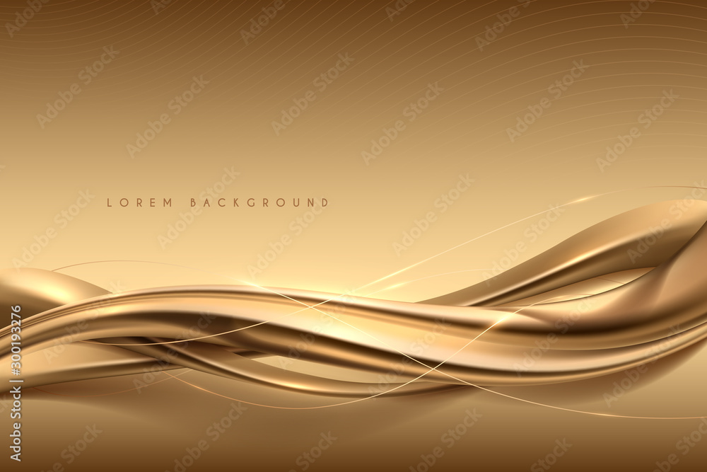 Fototapeta Elegant abstract gold silk background