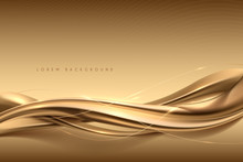 Elegant Abstract Gold Silk Background