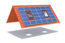 Solar Panel On Ceramic Tile Ro...