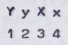 Real Typewriter Font Alphabet ...