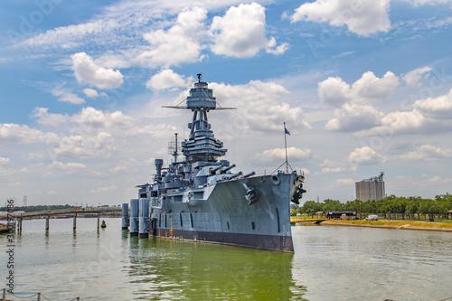The Famous Dreadnought Battleship Texas Wallpaper Mural