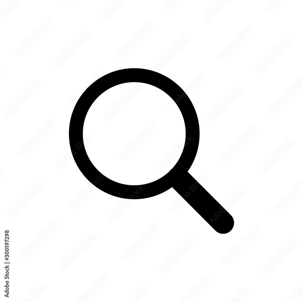 Fototapety, obrazy: Magnifying glass or icon. Search symbol in flat