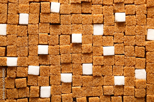 Fototapeta Different sugar cubes as background obraz