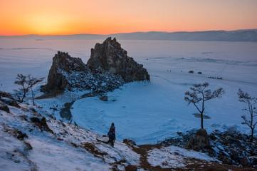 Cape Burkhan on Olkhon Island at Baikal Lake