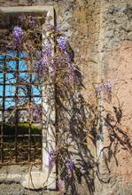 Alte Römische Steinmauer Mit Einem Fenster