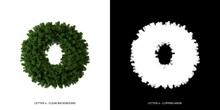 Letter O Lowercase Of Leaves. ...