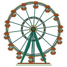 Ferris Wheel Carousel Amusemen...
