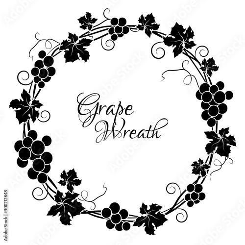 Valokuva Grape circle frame