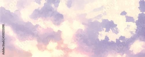 Montage in der Fensternische Weiß Beatiful Sky with Clouds Artistic Craft Painting