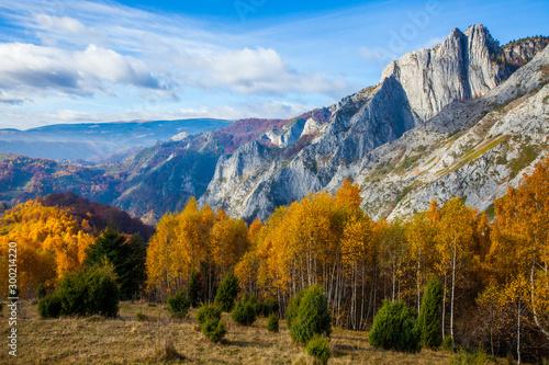 Foto auf Gartenposter Himmelblau Autumn landscape from Transylvania, Romania