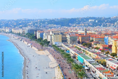 Fotobehang Nice View to Promenade des Anglais in Nice, France