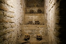 Catacombs In The San Francisco Cathedral In Lima, Peru