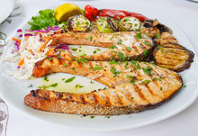 Sliced Swordfish Grilled With ...