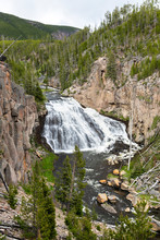 Gibbon Falls In The Yellowstone National Park