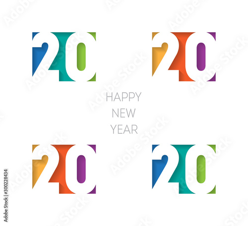 Fotomural  Happy new year 2020 banner