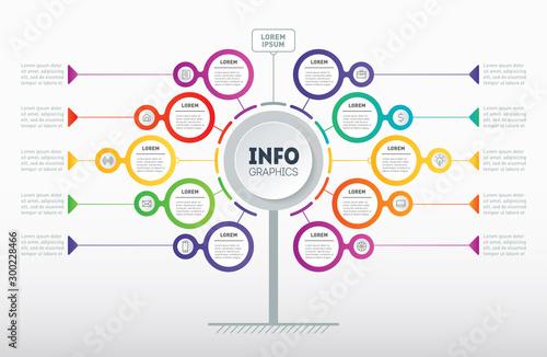 Fotografie, Obraz Business presentation concept with 10 options