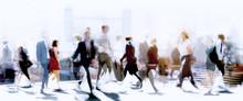 Walking People Blur. Lots Of P...
