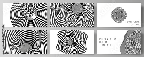 Fotografía The minimalistic abstract vector layout of the presentation slides design business templates
