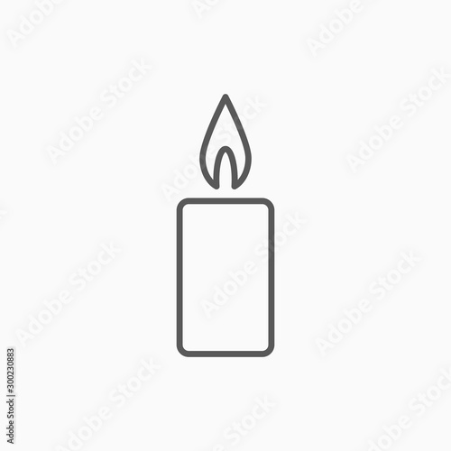 candle icon, light vector Fototapete