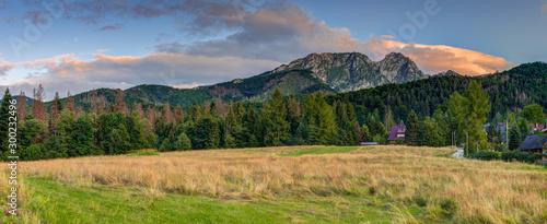 Giewont mountain massif in the Tatra Mountains of Poland
