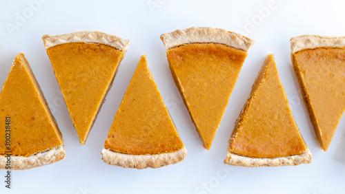 Obraz Fresh homemade pumpkin pie slices - fototapety do salonu
