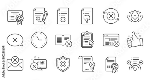 Reject line icons Slika na platnu