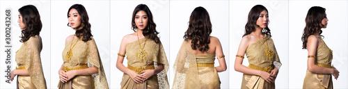 Fototapeta  Golden Dress of Thai Traditional Costume or South East Asia gold Dress in Asian