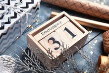 Wooden Block Calendar And Fest...