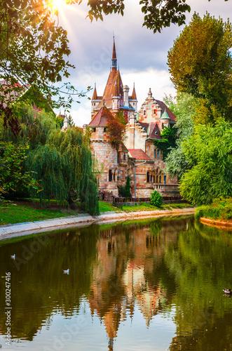 Famous Vajdahunyad castle in Budapest, Hungary Fototapete