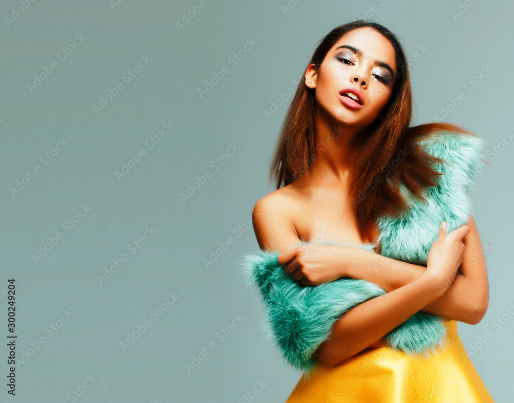Fototapety, obrazy: young pretty african-american woman posing in fashion clothers emotional, lifestyle people concept